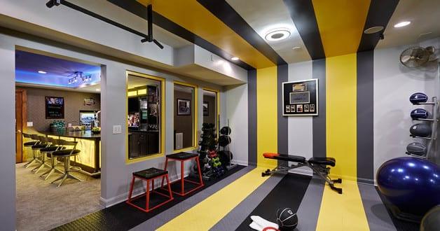 idee f r farbgestaltung und einrichtung vom fitnessstudio. Black Bedroom Furniture Sets. Home Design Ideas