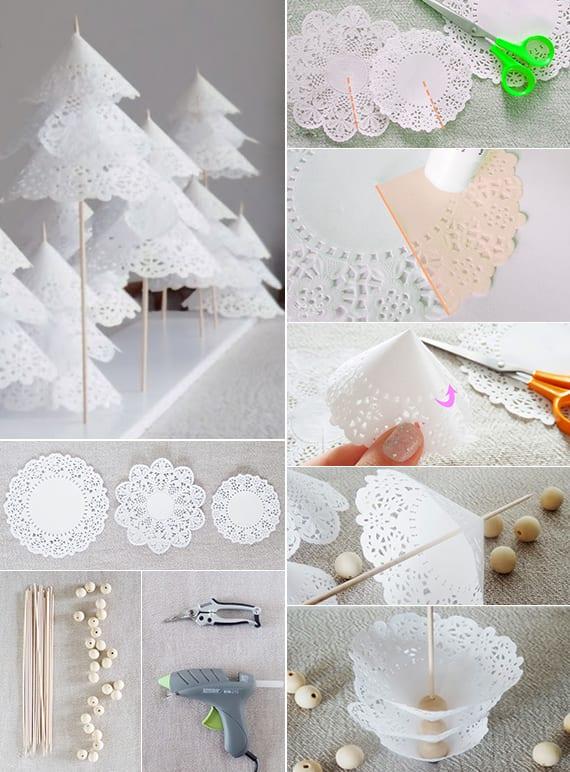 Weihnachtlich dekorieren mit diy weihnachtsb umen freshouse for Bastelideen fa r erwachsene papier
