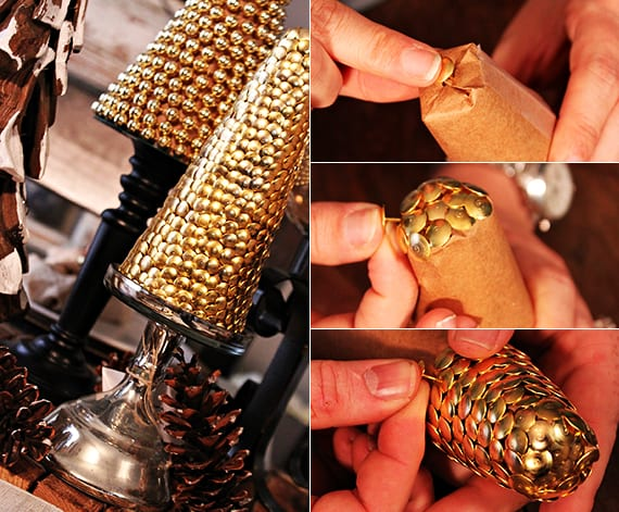 schöne weihnachten ideen für tischdeko weihnachten mit DIY-Weihnachtsbaum