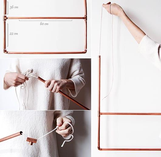 kluge einrichtungsideen für kleine räume mit DIY Kleidersange