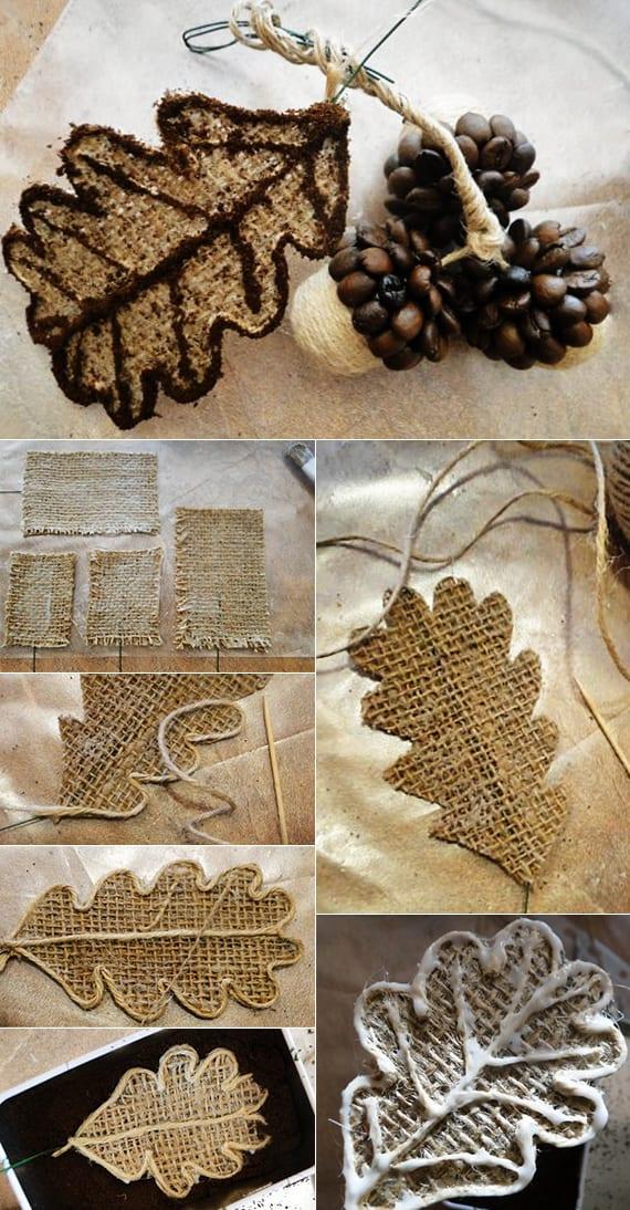 coole Decko Ideen zum weihnachten selber basteln mit kaffeebohnen