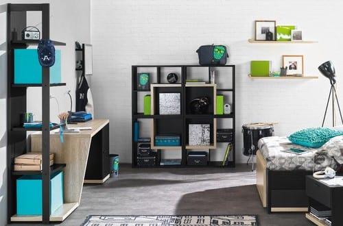 coole zimmer ideen f r jugedliche und kreative jugendzimmer einrichtungsideen in schwarzwei. Black Bedroom Furniture Sets. Home Design Ideas