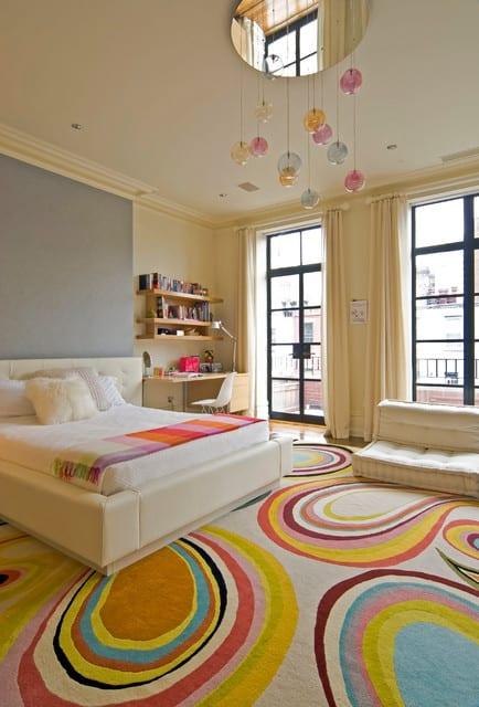 kinderzimmergestaltung und kinderzimmer streichen ideen für helles Teenager Zimmer im gelb