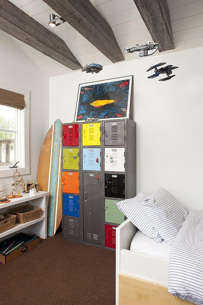 teenager zimmer kreativ gestalten mit metall-schrank_jugendzimmer ideen und coole zimmer deko ideen