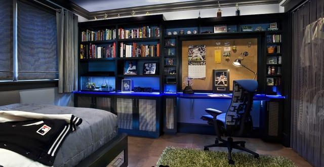 coole zimmer ideen f r jugendliche und kreative jugendzimmer junge mit indirekter beleuchtung in. Black Bedroom Furniture Sets. Home Design Ideas