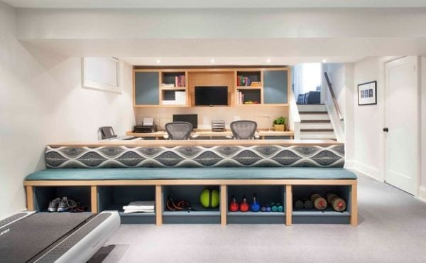 kellerraum als home office und fitnessraum einrichten