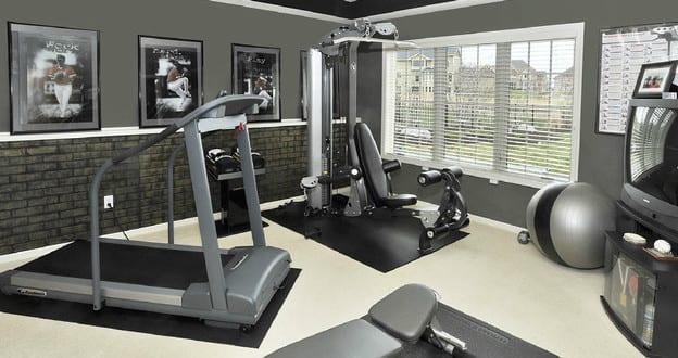farbgestaltung in grau f r fitnessstudio zu hause freshouse. Black Bedroom Furniture Sets. Home Design Ideas
