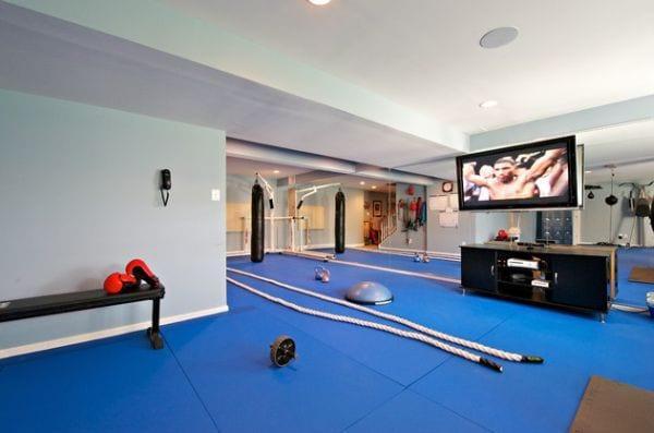 einrichtungsideen für eigenes fitness raum zuhause