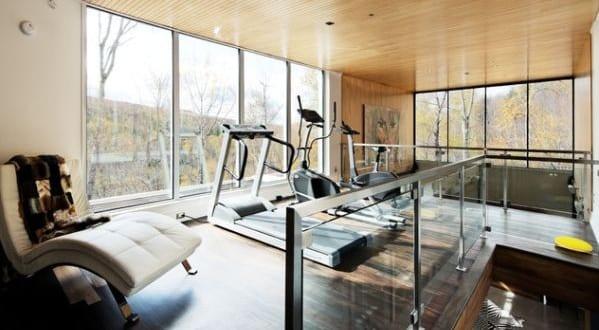 Fitnessraum zu hause gestalten  fitnessstudio zu hause einrichten und fitnessraum modern gestalten ...