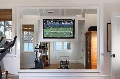 fitnessstudio zu hause einrichten einrichtungsidee freshouse. Black Bedroom Furniture Sets. Home Design Ideas