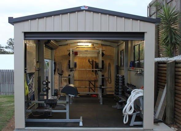 eigenes fitnessstudio in garage einrichten