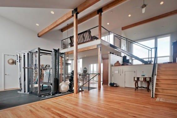 fitness gym zu hause einrichten
