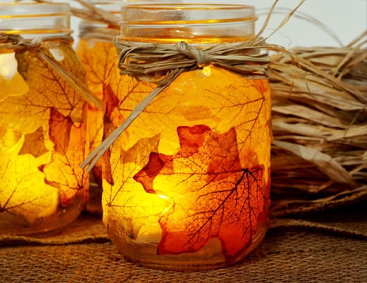 herbstdeko basteln mit bäumeblättern  freshouse