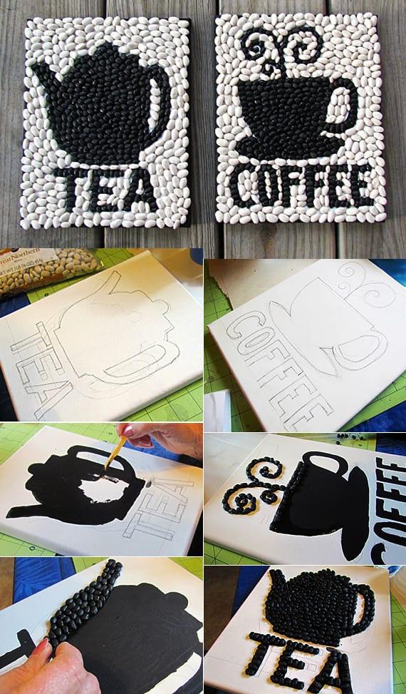interessante DIY-projekte und coole bastelideen mit Kaffeebohnen für DIY-Deko