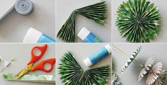 dekoideen weihnachten basteln mit papier