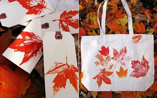 kreative-herbstdeko-basteln-mit-orangen-bäume-blättern - fresHouse