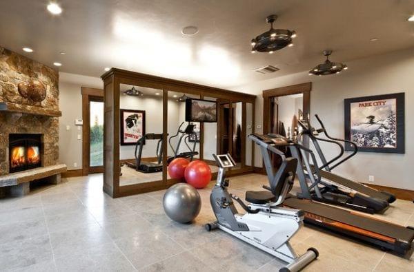 kreative ideen für eigenes fitnessstudio zu hause