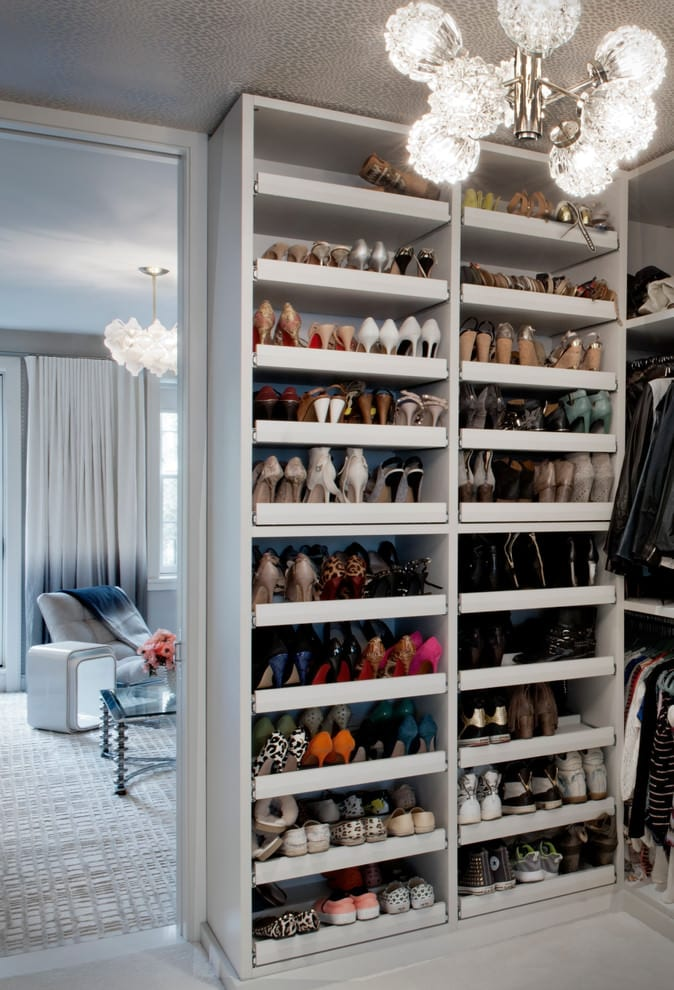 einrichtungsidee und kreative wohnideen schlafzimmer mit ankleideraum und schuhschrank