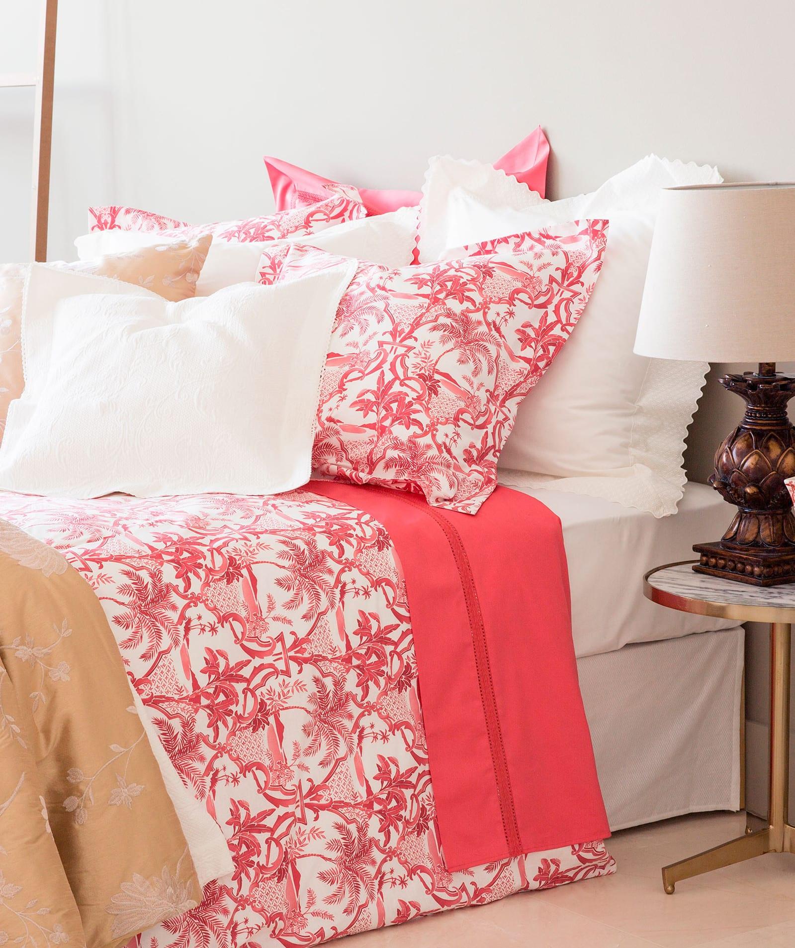 zara home zum schlafzimmer einrichten mit zara bettwäsche weiß und pink aus perkal