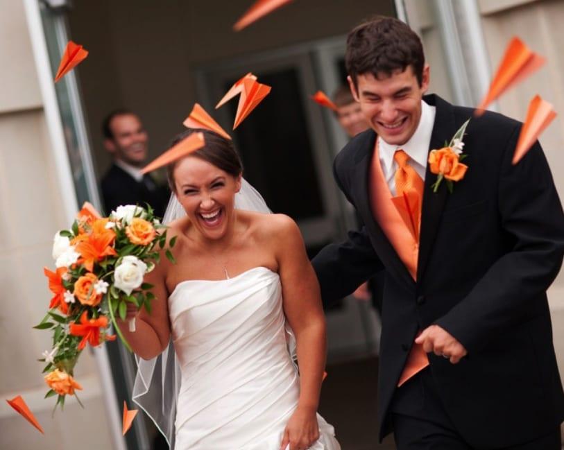ideen und bilder hochzeit für eine traumhochzeit in weiß und orange