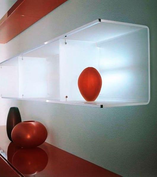 coole wohnzimmer ideen für moderne wohnzimmer einrichtung mit sideboard rot und led regal aus Methacrylat