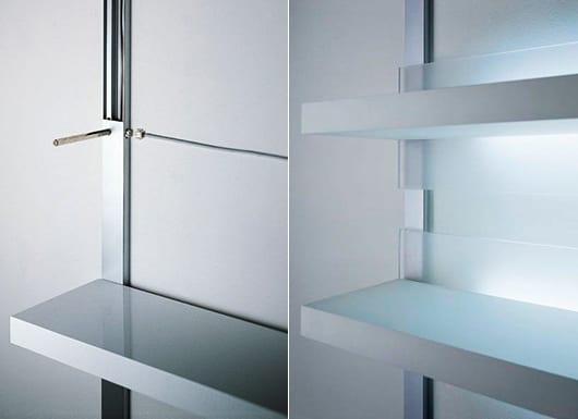 coole regale weiß mit indirekter beleuchtung als kreative wohnzimmer ideen für moderne wandgestaltung