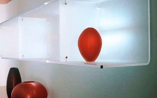 wandregale f r moderne wandgestaltung mit beleuchteten regalen glas und f r modernes wohnzimmer. Black Bedroom Furniture Sets. Home Design Ideas