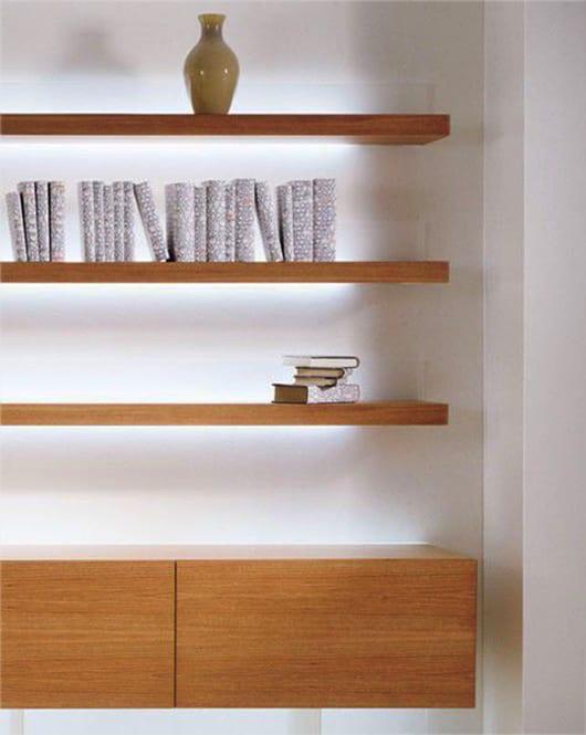 wohnzimmer ideen zum wohnzimmer einrichten mit holzregalen_coole regale von acerbis mit beleuchtung