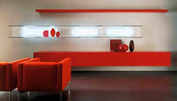 wandregale-rot-für-modernes-wohnzimmer-design-und-farbgestaltung ...