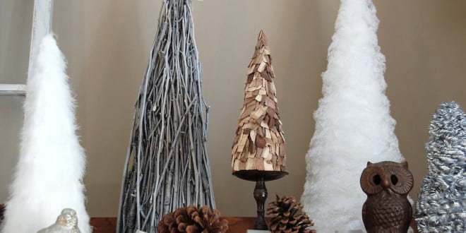 Weihnachtlich dekorieren mit DIY-Weihnachtsbäumen