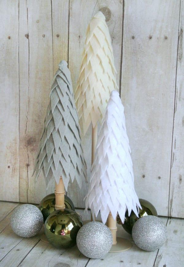 schöne weihnachten mit schönen bastelideen weihnachten für dekorativen diy-christbäume
