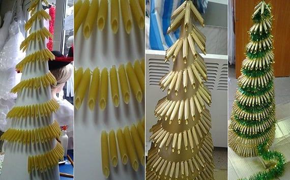 interessante bastelideen weihnachten für weihnachtsbaum als lustige deko idee