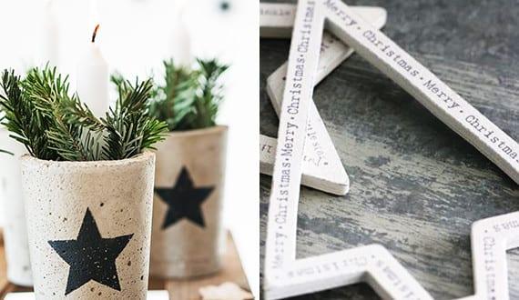 basteln mit beton zu weihnachten coole weihnachtsdeko selber machen mit beton freshouse. Black Bedroom Furniture Sets. Home Design Ideas