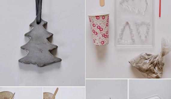 basteln mit beton zu weihnachten weihnachtlich dekorieren. Black Bedroom Furniture Sets. Home Design Ideas