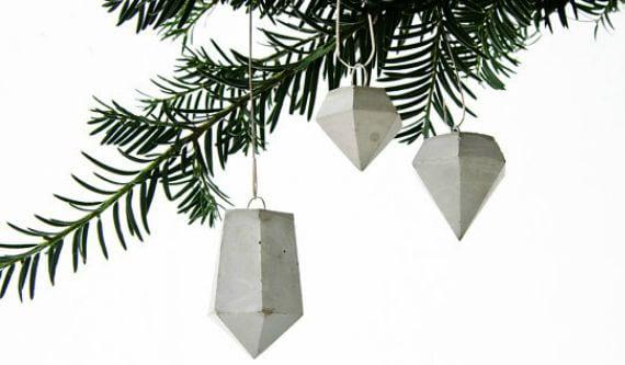 bastelideen weihnachten für DIY-Betonschmuck