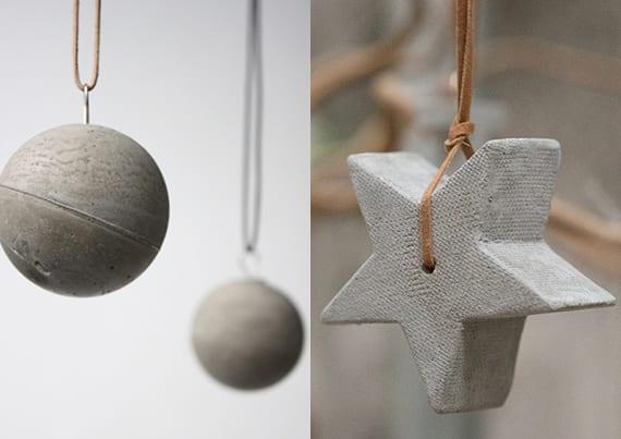 dekoideen weihnachten mit weihnachtsdeko aus beton