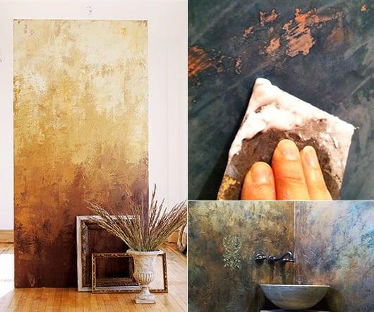 wand streichtechniken mit venetienischem Putz für kreative wandgestaltung im wohnzimmer und als badezimmer idee