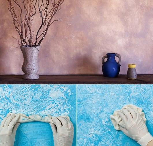 weiße wände neu gestalten mit farbe_coole wand streichtechniken und ideen