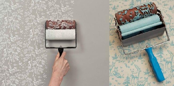 moderne und einfache wandgestaltung mit farbe und muster