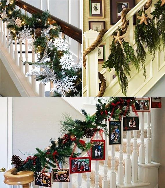 deko weihnachten für treppengeländer