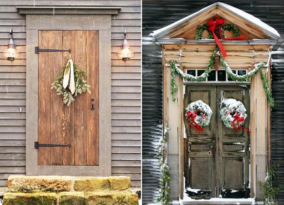 haustür weihnachtlich dekorieren