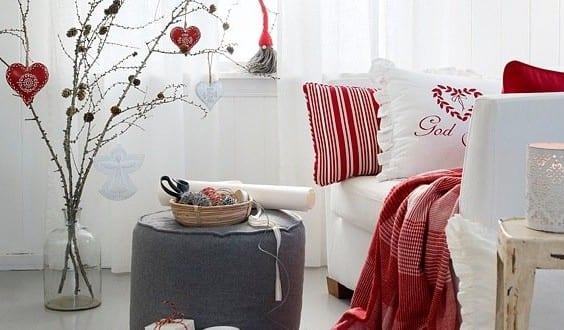 dekoideen weihnachten in wei und rot f r sch ne und frohe weihnachten zuhause freshouse. Black Bedroom Furniture Sets. Home Design Ideas