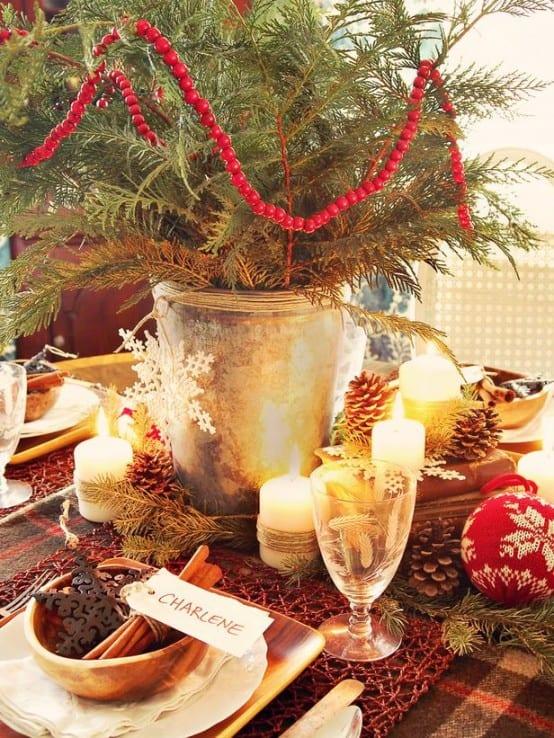 ideen für tischdeko weihnachten
