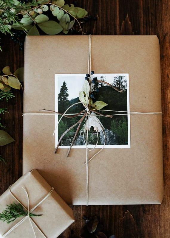 kreative geschenkverpackung basteln mit fotos