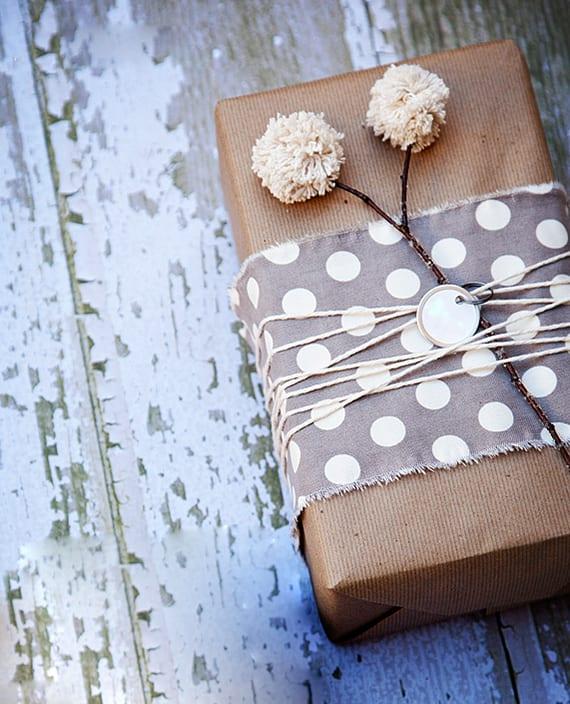 bastelideen mit garn zum geschenkverpackung basteln