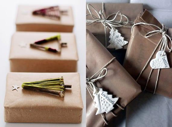 geschenke originell verpacken zu weihnachten