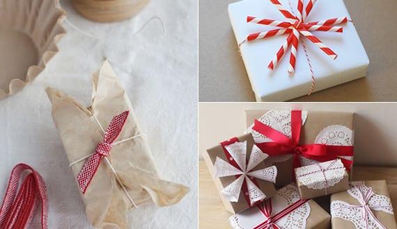 geschenke verpacken in wei und rot geschenkverpackung basteln f r kleine geschenke zu. Black Bedroom Furniture Sets. Home Design Ideas