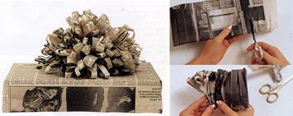 kreative geschenkverpackung selber machen aus zeitungspapier