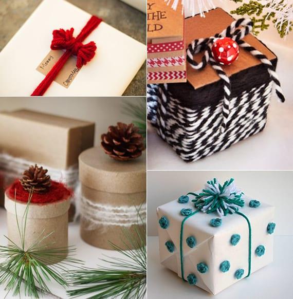 kleine geschenke originell und kreativ verpacken mit garn