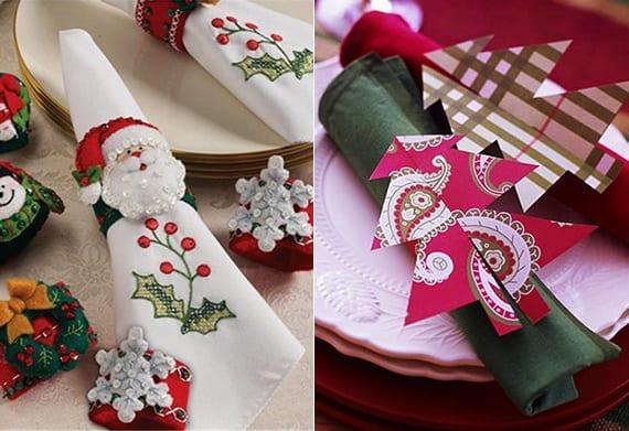 servieten weihnachtlich falten und dekorieren für eine festliche tischdeko